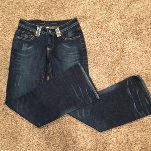 Bebe size 27 Bootcut Rhinestone jeans